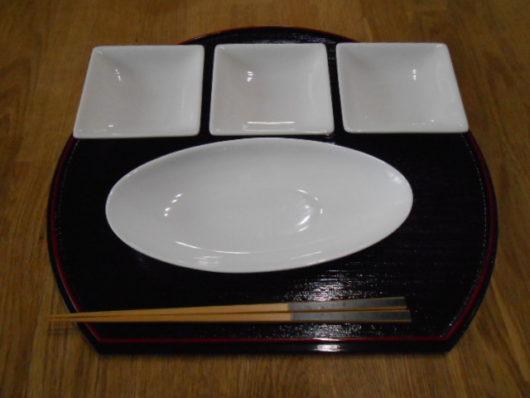 森修焼 角小皿