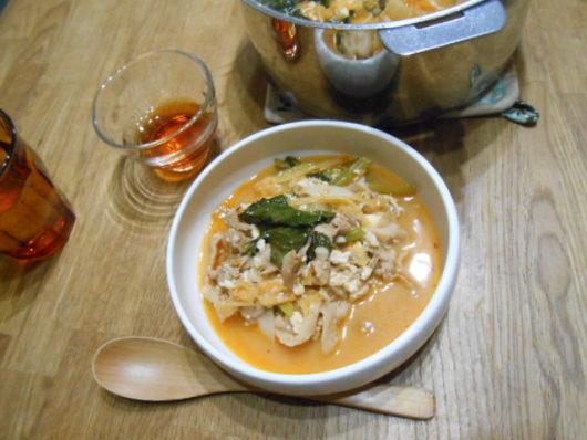 豚キムチスープ。