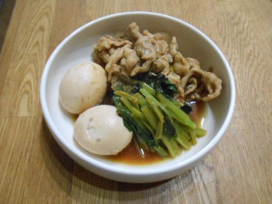 豚肉と小松菜煮
