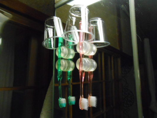 歯磨きコップ収納